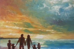 Painting by local artist Noelle Gibbons