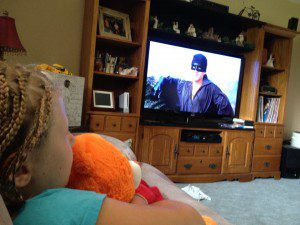 Cadee watching The Princess Bride