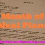 Month of Meal Plans, Week 2