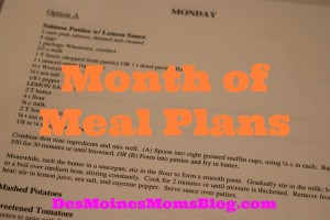 Month of Meal Plans