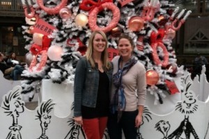 My sister and me at the Whoville tree in Balboa Park