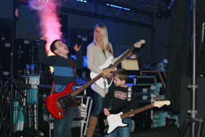 Rocking out with my boys!