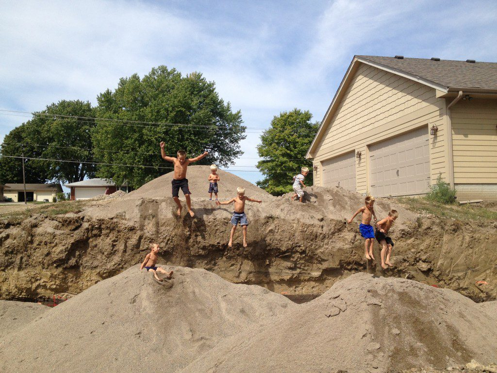 Sand jumping
