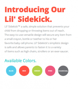 lil sidekick options