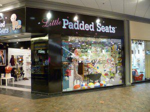 little padded seats storefront