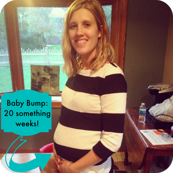 pregnant baby bump photo at 20 something weeks