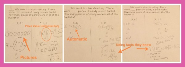 student examples of multiplication problems