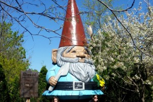 Elwood, the World's Largest Concrete Garden Gnome, at Reiman gardens, Ames, Iowa. Photo by Jody Halsted