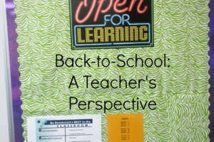 Back-to-School: A Teacher's Perspective