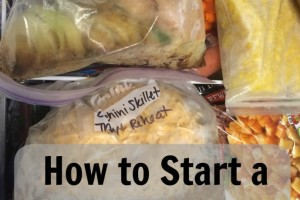How to Start a Freezer Meal