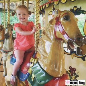 Riding the Heritage Carousel at August's DMMB Play Date was super fun! I think I rode 10 times.