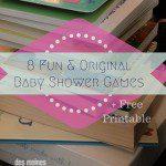 8 Original Baby Shower Games + Free Printable