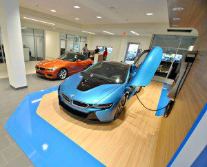 BMW new showroom blue