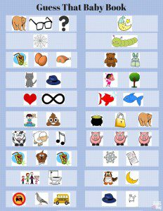 Baby Shower Game Activity Card Guess The Baby Book