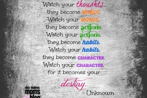 Watch Your Thoughts | Des Moines Moms Blog