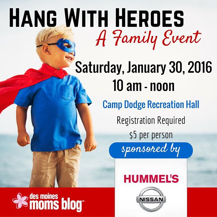 hang with heroes | des moines moms blog