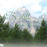 Be Still: 3 Things I'm Choosing to Treasure (and How)