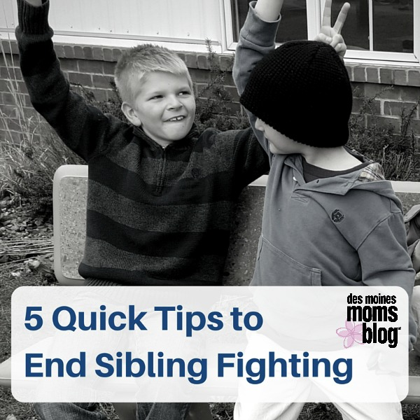 5 Quick Tips to End Sibling Fighting | Des Moines Moms Blog