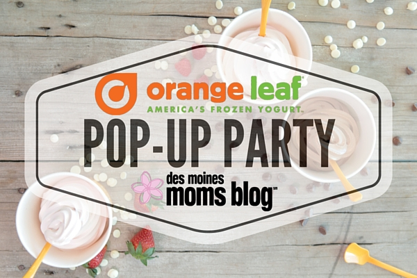 Orange Leaf Frozen Yogurt POP-UP PARTY | Des Moines Moms Blog