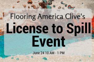 License to Spill Event: Flooring America Clive | Des Moines Moms Blog
