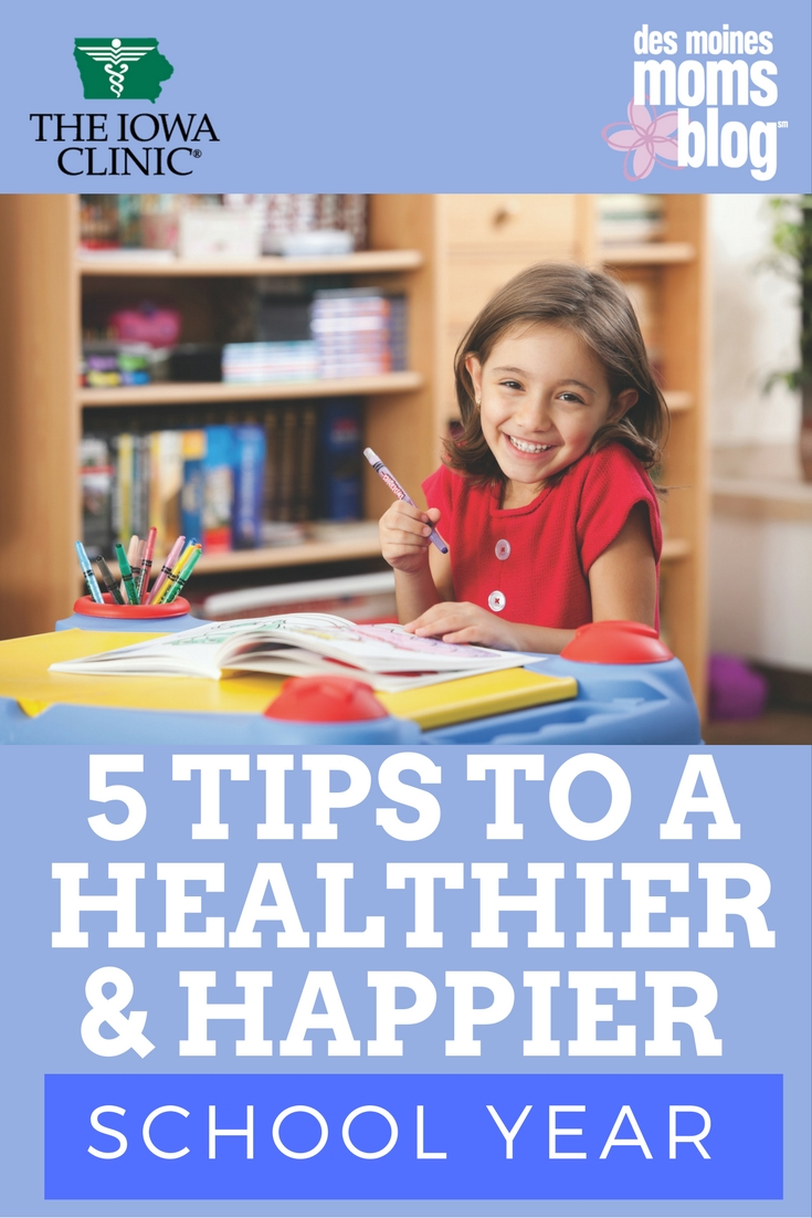 5 Tips to a Healthier and Happier School Year | Des Moines Moms Blog