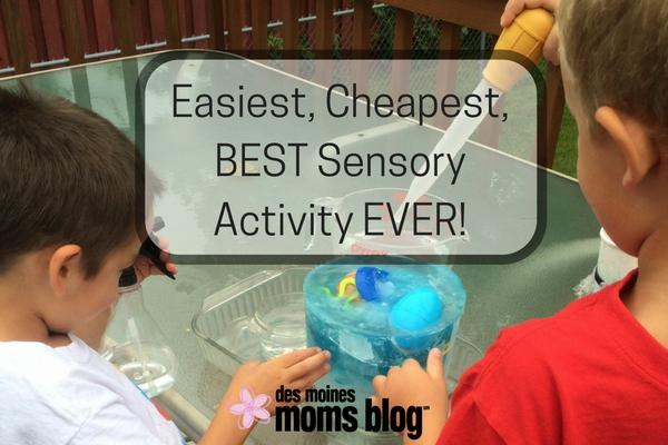 Easiest, Cheapest, BEST Sensory Activity EVER! | Des Moines Moms Blog