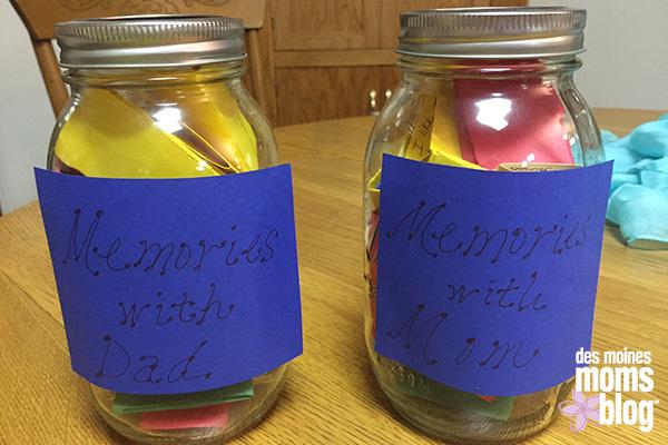 Give a Jar of Memories | Des Moines Moms Blog