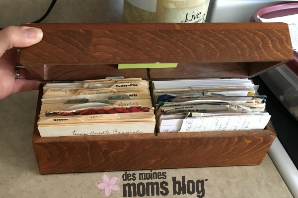 grandma recipe box
