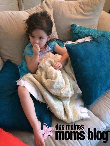 toddler sucking her thumb