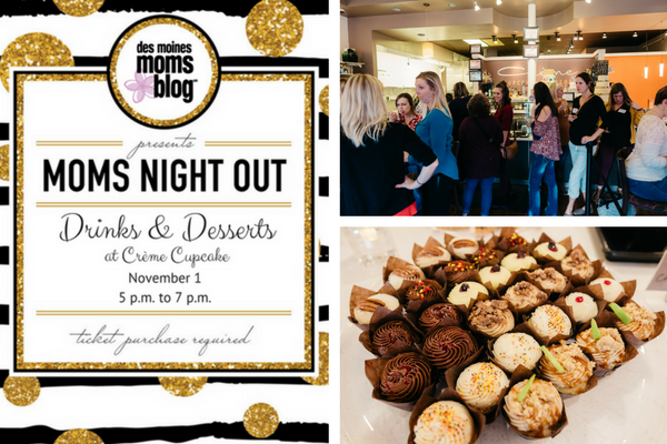 Moms Night Out Drinks and Dessert recap