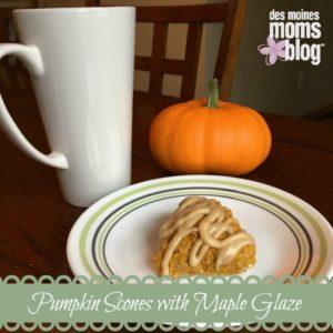 pumpkin scones fall recipes
