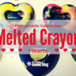 Homemade Valentines: Melted Crayon Hearts + Printable!