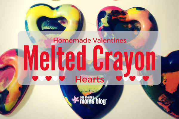 homemade valentine melted heart crayons