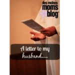A Letter To My Husband