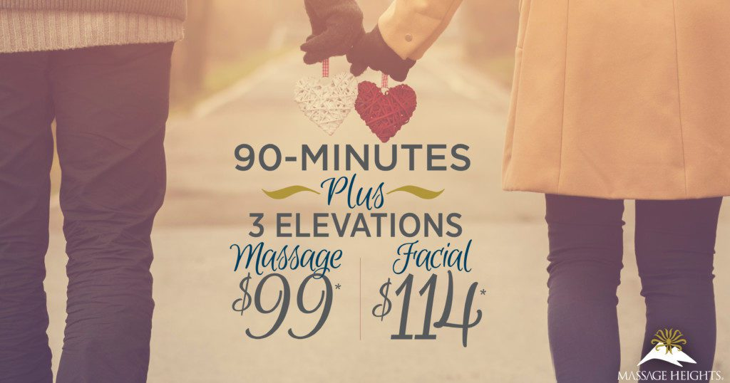 valentine's day massage facial special