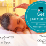 Get Pampered at Coachlight Clinic and Spa on April 20