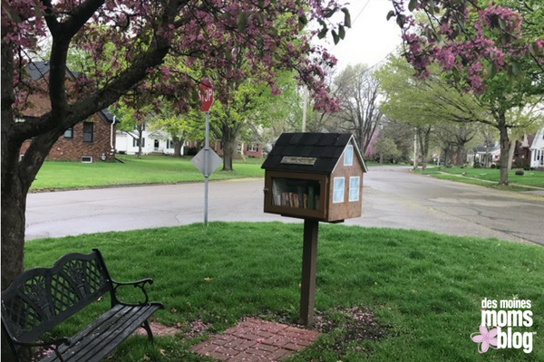 Beaverdale little library des moines moms blog neighborhood guide