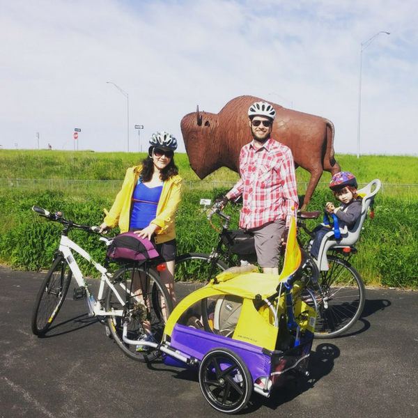 family bike ride in iowa