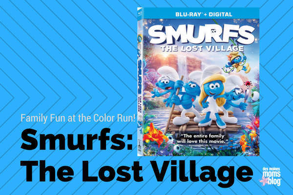 smurfs the lost village color run