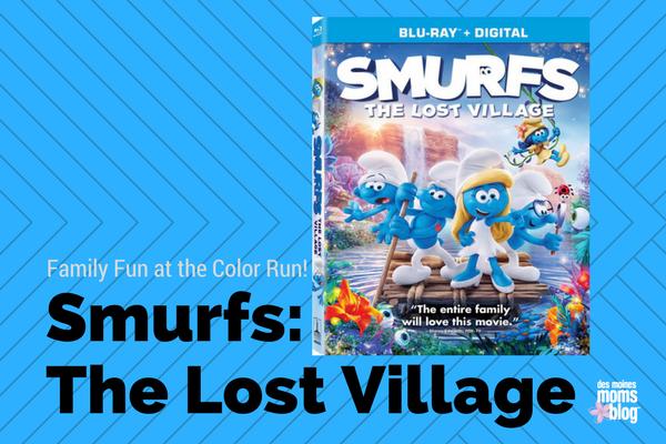 smurfs the lost village color run