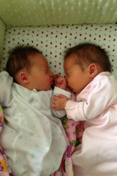twins sleeping together