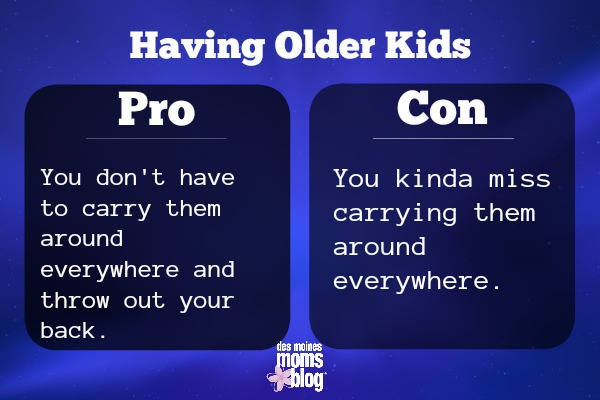 pros and cons of older kids