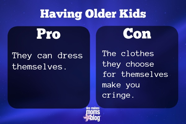 pros and cons of older kids Clothes