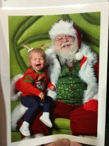 see Santa toddler crying