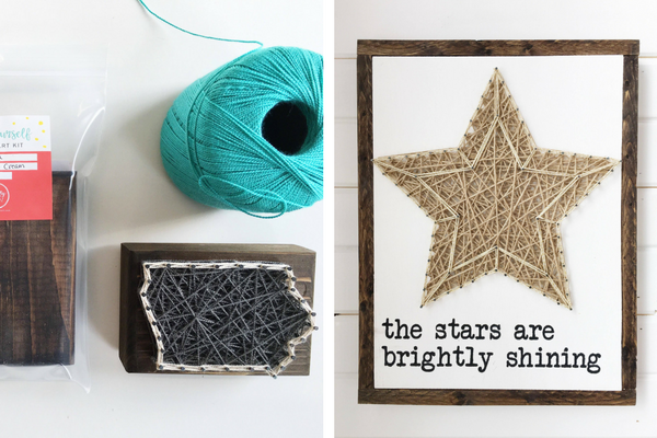 The Knotty Nail string art Shop local in Des Moines