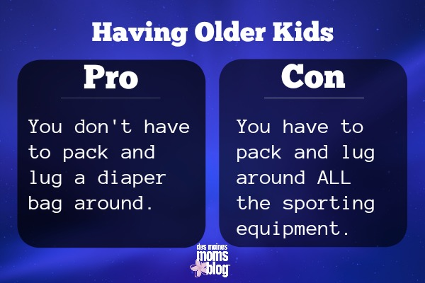older kids pros and cons diaper bag