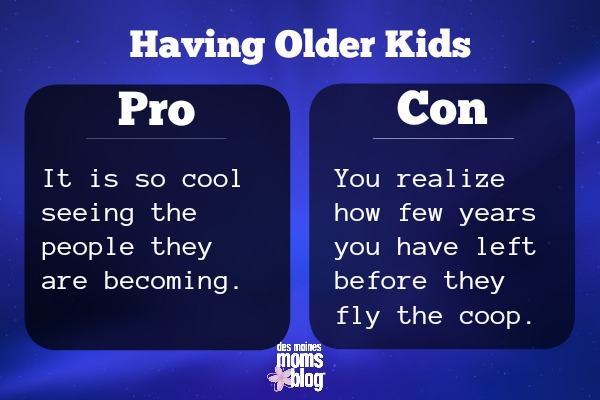 older kids pros and cons kids growing up