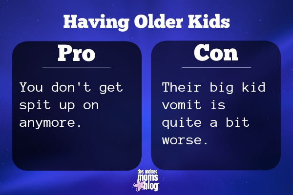 older kids pros and cons spit up