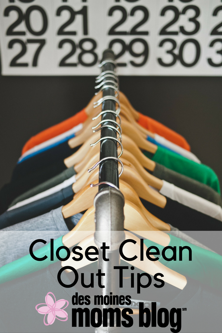 closet clean out tips