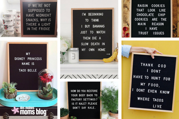favorite letter boards food
